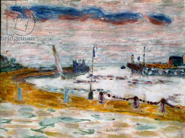 The exit of the port in Trouville in Normandy Painting by Pierre Bonnard (1867-1947) 1936 Collection privvee