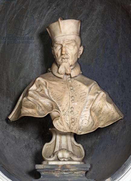 Bust-portrait of Cardinal Stefano Durazzo, 1677 (marble)