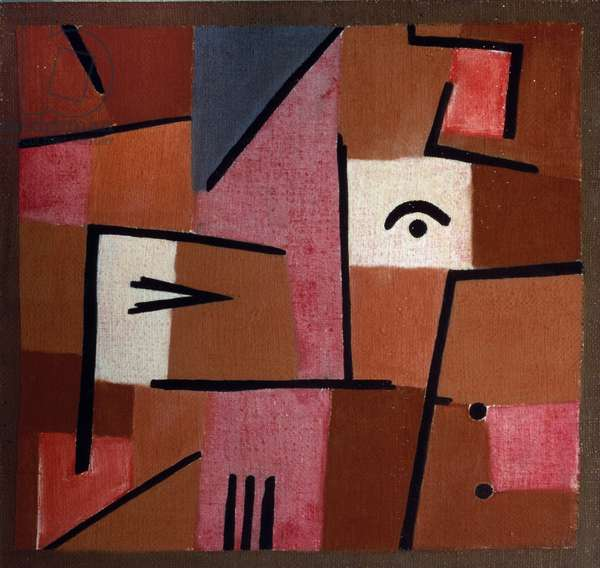 Look in the Red Pastel painting on cotton and burlap by Paul Klee (1879-1940), 1937 Dim. 47x59 cm Private collection