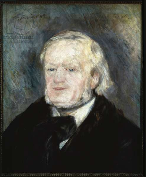 Portrait of Richard Wagner (oil on canvas, 1882)