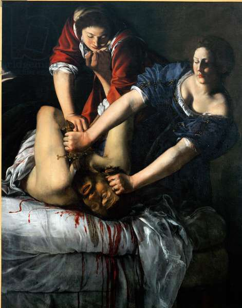 Judith and Holofernes. (Oil on canvas, 17th century)
