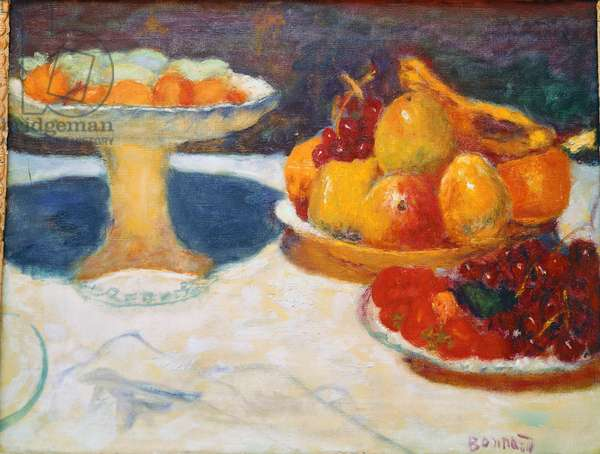 Still Life at the Compotier Painting by Pierre Bonnard (1867-1947) Bernheim-Jeune Collection