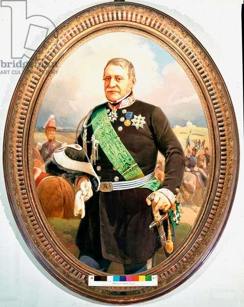 """""""""""Portrait de l'homme politique et militaire Ettore Perrone di San Martino (1789-1849)"""""""" Peinture anonyme (19eme siecle) Museo Nazionale del Risorgimento Turin ©Luisa ricciarini/leemage"""