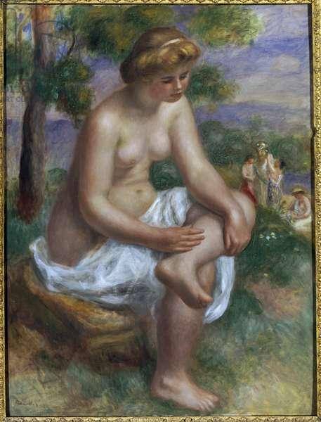 Bather sitting in a landscape called Eurydice (oil on canvas, 1895-1900)