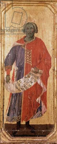 The Prophet Salomon Detrempe on wood by Duccio di Buoninsegna (1255-1318/9) 1308-1311 Dim. 42,5x16 cm Siena, Museo del 'Opera Metropolitana