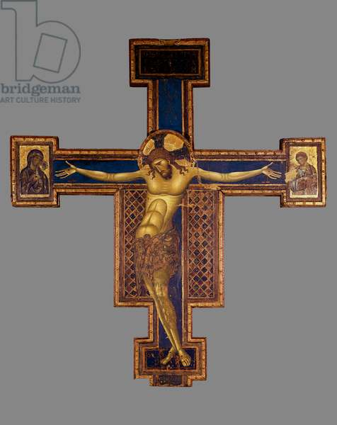 Crucifix Wood painting by Giunta Pisano (active between 1229 and 1254) Bologna, Church of St. Dominica (San Domenico)