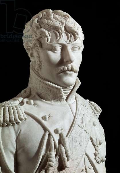 Eugene Rose de Beauharnais called Prince Eugene vice king of Italy then Duke of Leuchtenberg (1781-1824), adoptive son of Napoleon I Marble Sculpture by Joseph Chinard (1756-1813) 1806 Versailles, castle museum