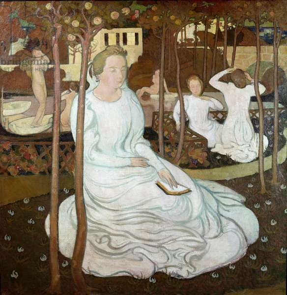 Orchard of the Wise Virgins, 1893 (oil on canvas)