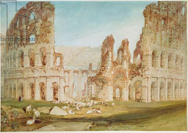 The Colisee in Rome (Colosseum) Watercolour by Joseph Millord William Turner (1775-1851), 1819. London, british museum