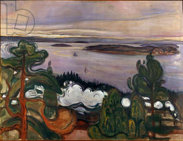 The Smoke of the Train Painting by Edvard Munch (1863-1944) 1900 Sun. 84,5x109 cm Oslo, Kommunes Kunstsamlinger Munch-Museet (Musee Munch)