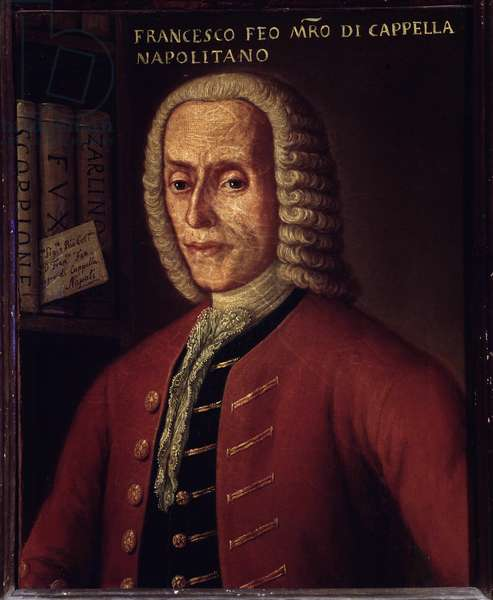 Portrait of italian composer Francesco Feo (1691-1761)