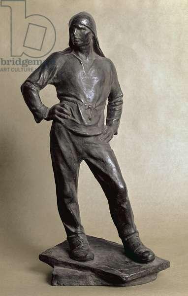 The Longshoreman of the Harbor of Antwerp - Sculpture by Constantin Meunier (1831-1905), bronze, 1890. Paris Musee d'Orsay
