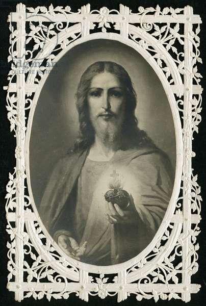 Jesus of the Sacred Heart (litho)