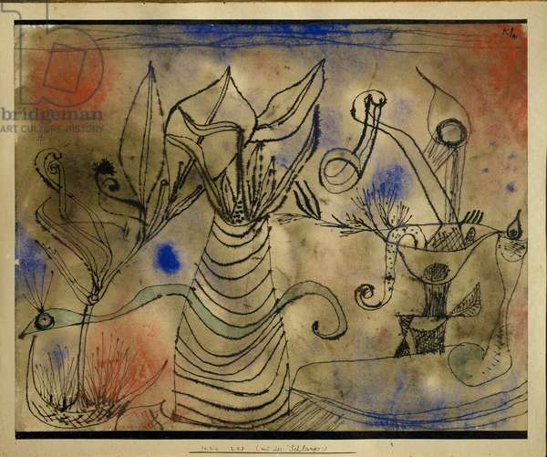 Still Life with Snake Pastel and Ink by Paul Klee (1879-1940) 1928 Sun. 22,5x28 cm Venice Museo d'Arte Moderna Ca 'Pesaro