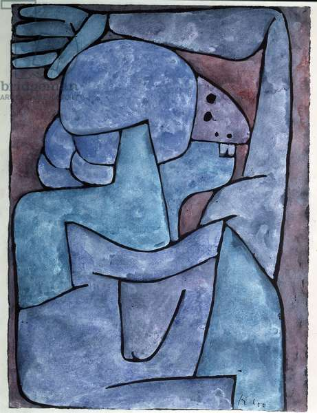 Backbiting woman Painting by Paul Klee (1879-1940) 1939 Dim 32x24 cm Bern, Felix Paul Klee Switzerland