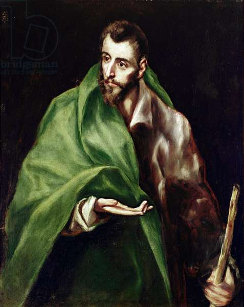 The Apotre Saint James Maggiore. Painting by Domenikos Theotokopoulos dit El Greco (1540-1614), 1610-1614. Oil on canvas. Dim: 97x77cm. House and Musee El Greco, Toledo, Spain.