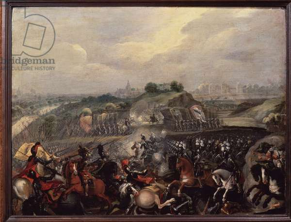 Religious Wars: King Henry IV has the Battle of Ivry on 14/03/1590 (painting)