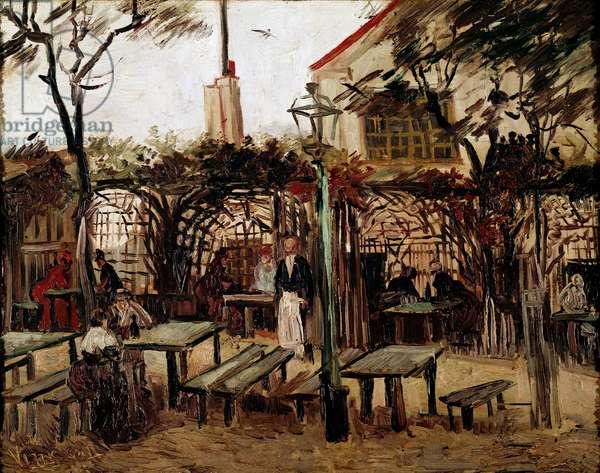 Guinguette in Montmartre:  the wooden billiard table became la bonne franquette, 1886 (Oil on canvas)