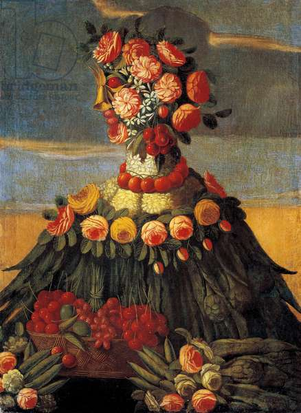 Spring Painting of the workshop by Giuseppe Arcimboldo (Arcimboldi, 1527-1593), 16th century. Museo Bardini Fienze