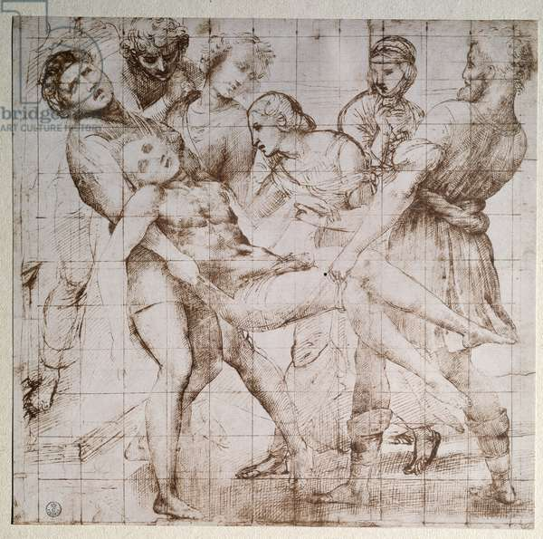 The study deposition for the altarpiece Baglioni - drawing by Raffaello Sanzio (Raphael) (1483-1520) Galleria degli Uffizi (Offices) Gabinetto Disegni e Stampe Florence