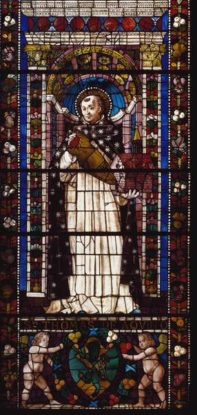 Representation of Saint Thomas Aquinas (Stained glass, 1492)