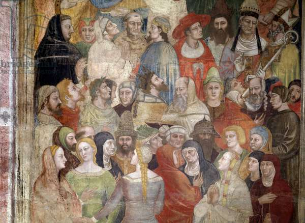 The Elected (from Dante's Divine Comedie) - Fresco, 1360