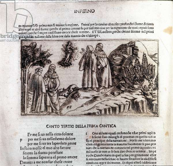 First page of first florentine edition of the Divine Comedy, 1481