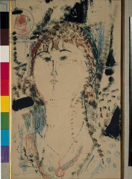 Rosa Porprina Painting by Amedeo Modigliani (1884-1920) Dim. 44x27 cm Milan, Museo del Novecento