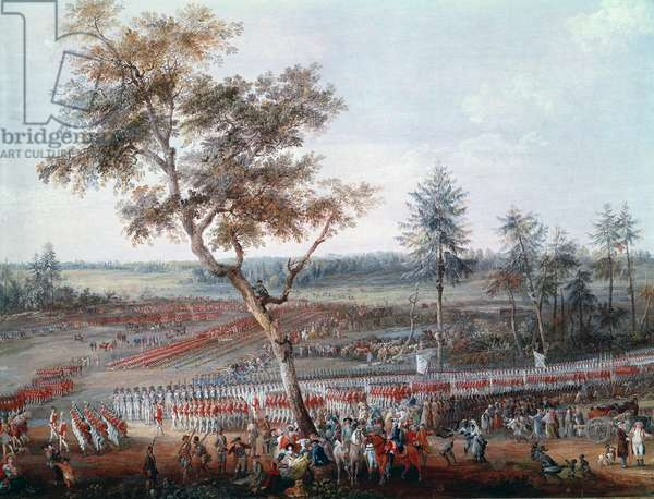 Siege of Yorktown on the 19 october 1781. Detail (oil on canvas, 1785)