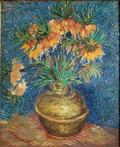 Still life of fritillaries. Painting by Vincent Van Gogh (1853-1890), 1886-1887. Paris Musee d'Orsay