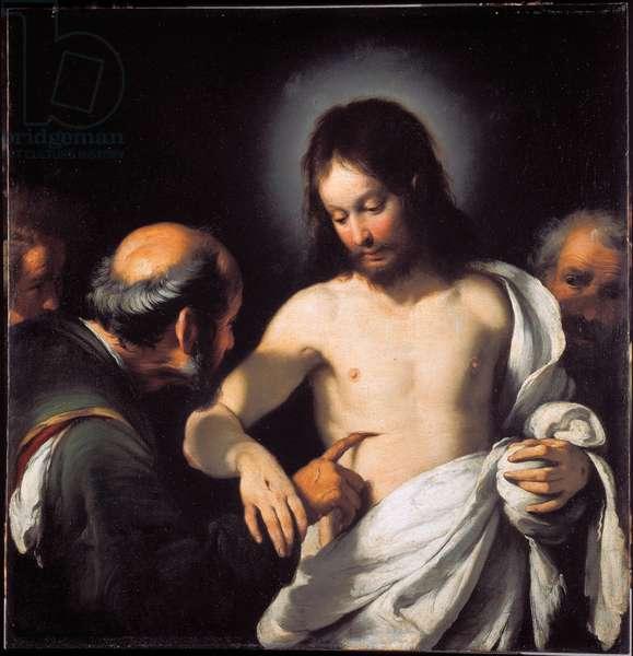 The Incredulite of St. Thomas Painting by Bernardo Strozzi (1581-1644) Dim. 101 x 97.5 cm Genes, Musei di Strada Nuova (ex Palazzo Bianco)