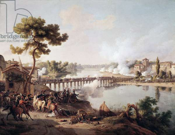 General Napoleon Bonaparte gives orders to the battle of the bridge of Lodi (10/05/1796) during the first campaign of Italy (1796-1797) (Napoleon Bonaparte giving orders during the Battle of Lodi, 10 May 1796) Painting by Louis Francois Lejeune (1775-1848) 19th century Sun 1.85 x 2.40 m Versailles musee du chateau