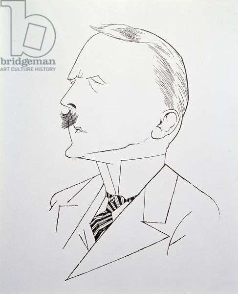 It Stinks Here', Satirical Portrait of Adolf Hitler (litho)