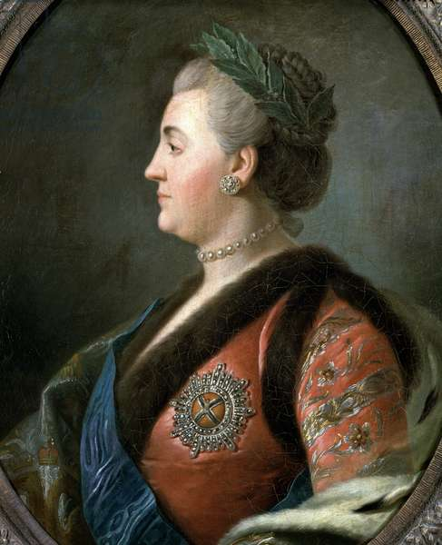 Portrait of Catherine II the Great, empress of Russia (Painting, 18th century)