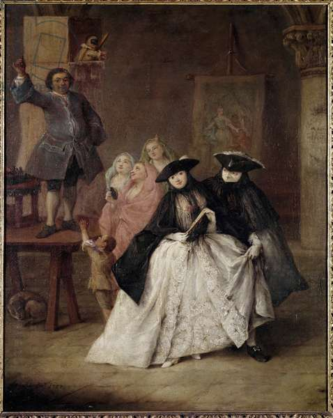 The charlatan (Il ciarlatano) - Painting by Pietro Longhi (1702-1785), oil on canvas, 62x50 cm, 1757. Venezia, Fondazione Querini Stampalia