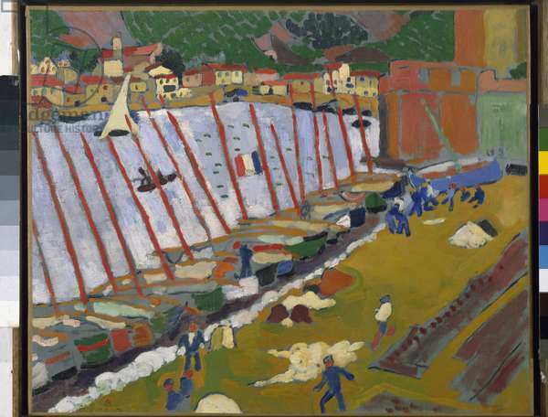 Le port de Coillioure Painting by Andre Derain (1880-1954) 1905 Musee National d'Art Moderne, Centre Georges Pompidou Paris