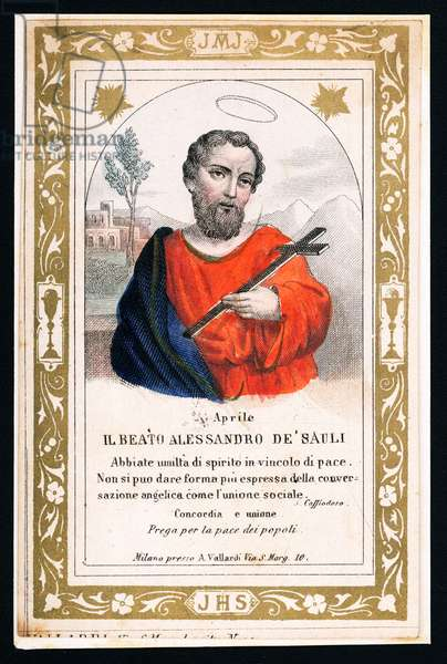 Representation of St Alexander Sauli, early 20th century (postcard)