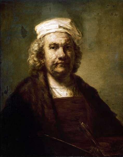 Self-portrait. Painting by Harmenszoon van Rijn dit Rembrandt (1606-1669). Around 1660-63. Madrid. Prado Museum.