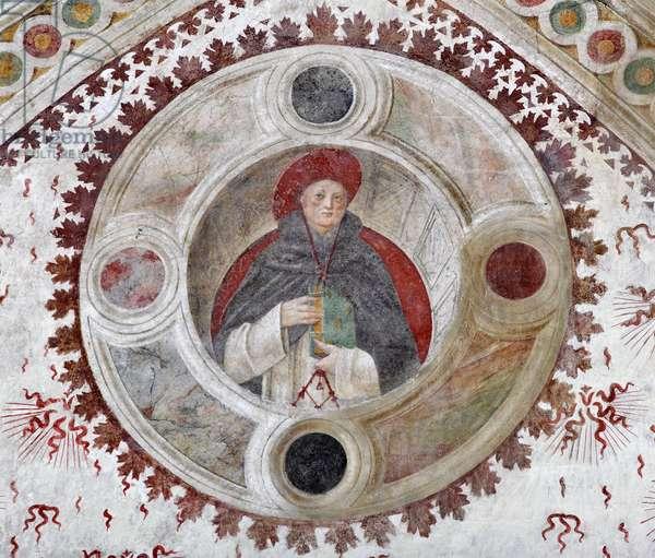 Representation of a Dominican Cardinal (A Dominican Cardinal) Fresco by Bernardino Zenale and Bernardino Butinone, 1482-1486 Milan, Basilica di Santa Maria delle Grazie Italy