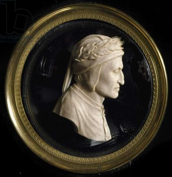 Wax profile of the Italian poet Dante Alighieri (1265-1321) Florence, Museo Nazionale del Bargello