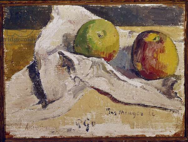 Still life with apples (oil on canvas, 1895)