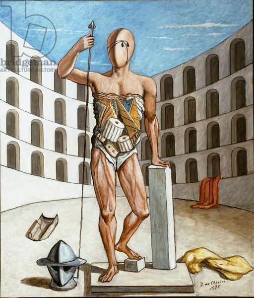The gladiator in the arena, 1975 (oil on canvas)