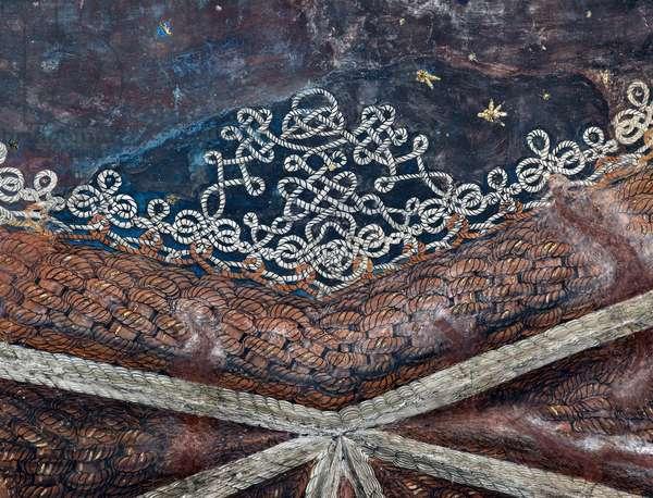 Detail of the decorations of the vault of the sacristy of Bramante (Donato di Pascuccio) (1444-1514) (Detail of the vault of the sacristy of Bramante) Milan, Basilica di Santa Maria delle Grazie
