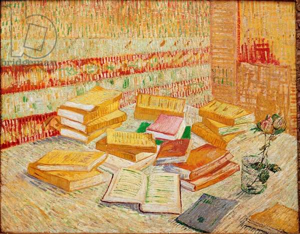 Les livres jaunes ou romances Parisiens Painting by Vincent Van Gogh (1853-1890) 1887 Dim. 73x93 cm Baden-Baden, private collection