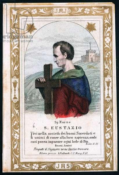 Representation of Eustace of Luxeuil (Eustasius), early 20th century (print)