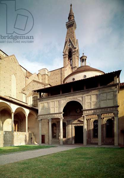View of the chapel of the Pazzi (photography)