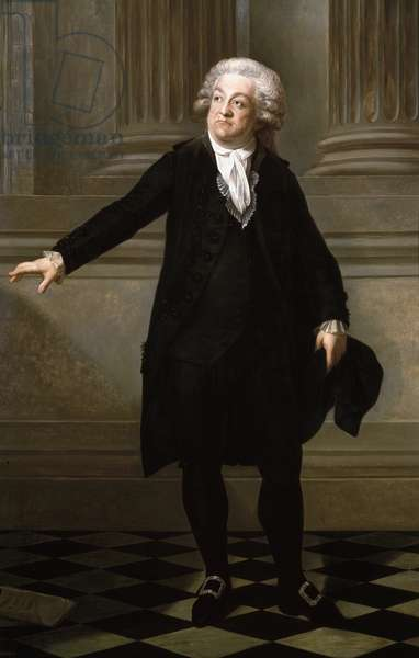 Portrait of Honore Gabriel Riqueti, Count of Mirabeau (oil on canvas, 19th century)