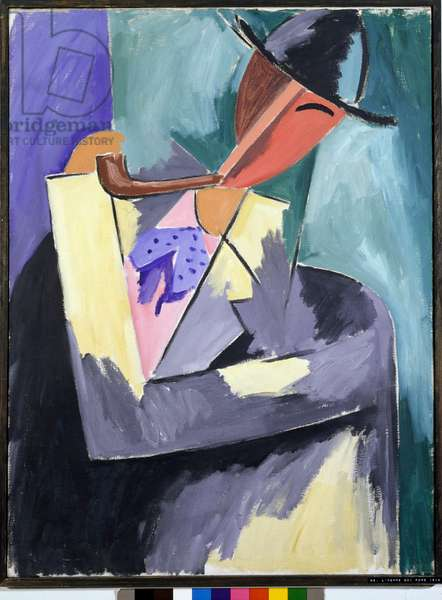 Man Smoking Painting by Alberto Magnelli (1888-1971) 1913-1914 Dim 100x75 cm Private collection