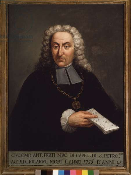 Portrait of Giacomo Perti (1661-1756) italian composer