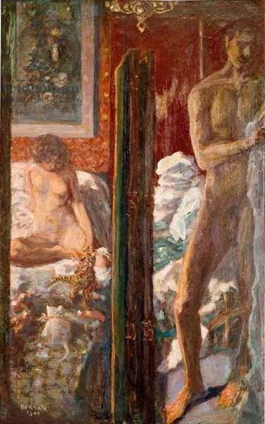 L'homme et la femme Painting by Pierre Bonnard (1867-1947) 1900 Dim. 115x72 cm Paris, national museum of modern art